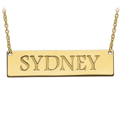 Personalized 12x51mm Name Bar Necklace