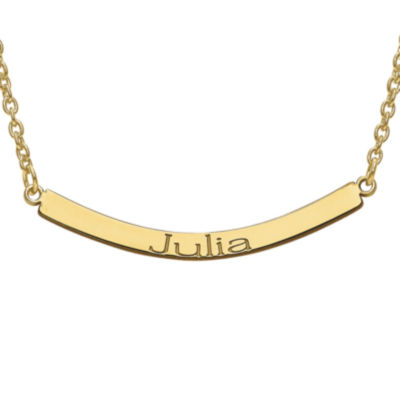 Personalized Curved Name Bar Necklace