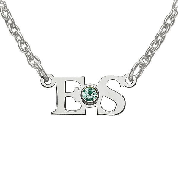 Personalized birthstone 2 initial pendant necklace jcpenney personalized birthstone 2 initial pendant necklace aloadofball Image collections