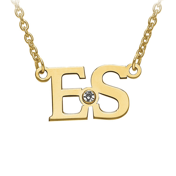 Personalized birthstone 2 initial necklace jcpenney personalized birthstone 2 initial necklace aloadofball Image collections