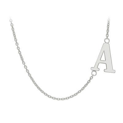 Personalized Sideways Single Initial Necklace