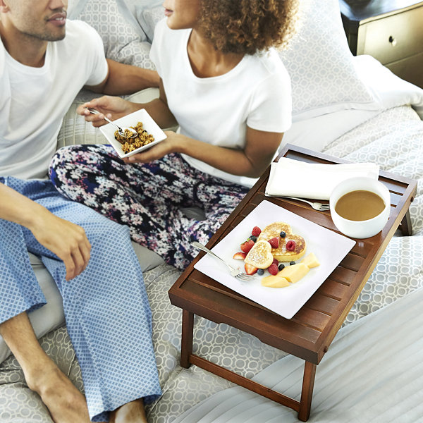 Gibson® Natural Trends Acacia Wood Bed Tray