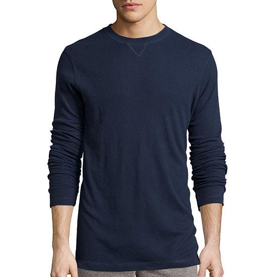 Hanes® Textured Thermal Crewneck Sleep Shirt