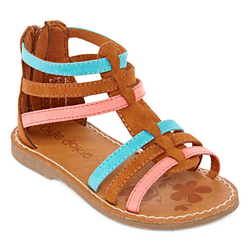 Okie Dokie Elate Girls Flat Sandals - Toddler
