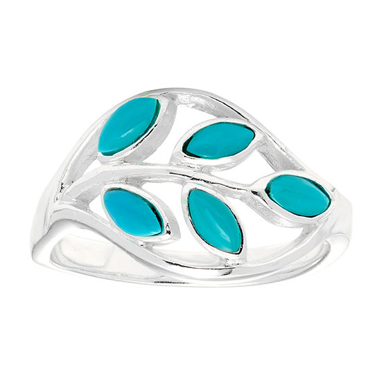 Sparkle Allure Blue Turquoise Pure Silver Over Brass