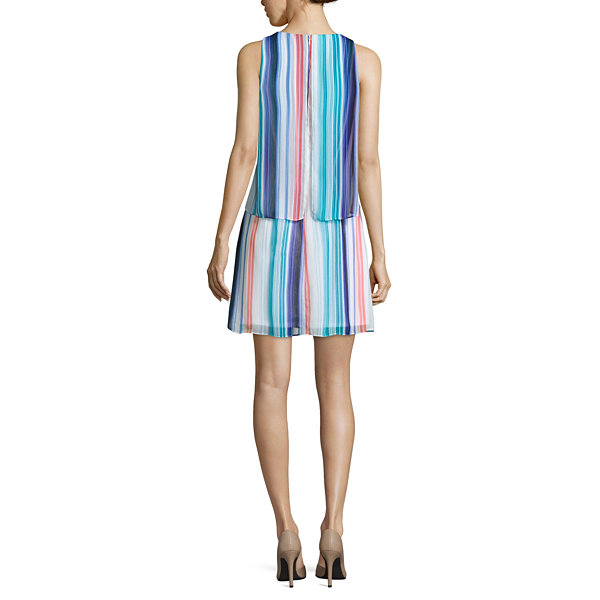 Worthington Sleeveless Tiered Shift Dress