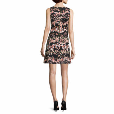 Worthington Sleeveless Floral Fit & Flare Dress