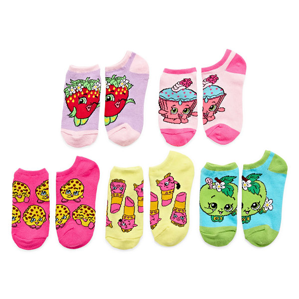 5-Pc. Shopkins Girls No Show Socks