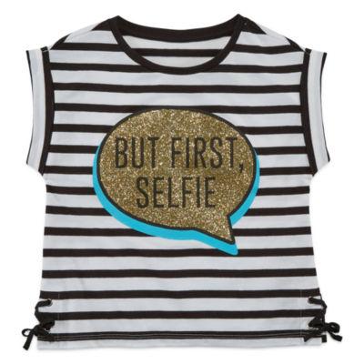 Total Girl Short Sleeve Crew Neck T-Shirt-Preschool Girls