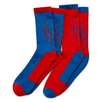 Licensed Properties Spiderman Crew Socks 2-pc.