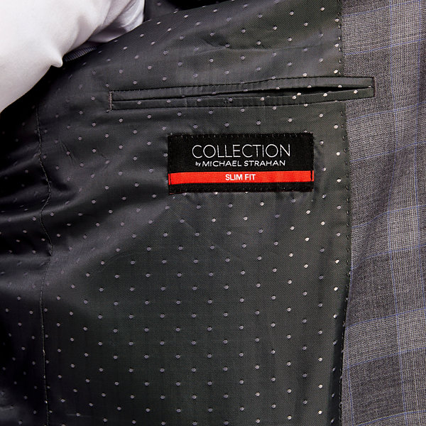Collection by Michael Strahan  Plaid Slim Fit Suit Jacket