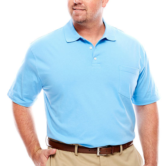 The Foundry Big & Tall Supply Co. Short Sleeve Solid Jersey Pocket Polo
