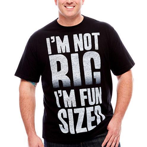 Short Sleeve Big And Tall Humor Tee  Fun Size