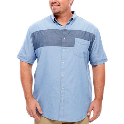 The Foundry Big & Tall Supply Co. Short Sleeve Animal Button-Front Shirt-Big and Tall