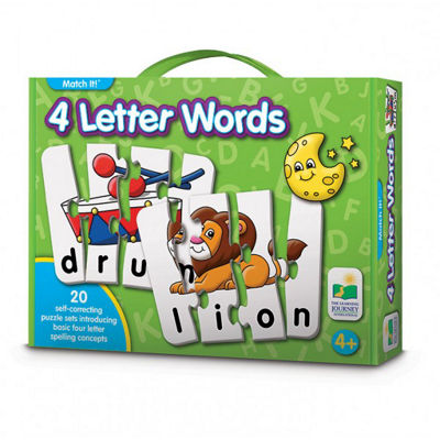 The Learning Journey Match It! - 4 Letter Words Puzzle