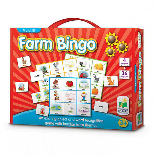 The Learning Journey Match It Bingo Farm 36 Pc Puzzle