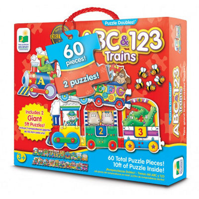 The Learning Journey Puzzle Doubles - Giant ABC &123 Train Floor Puzzles