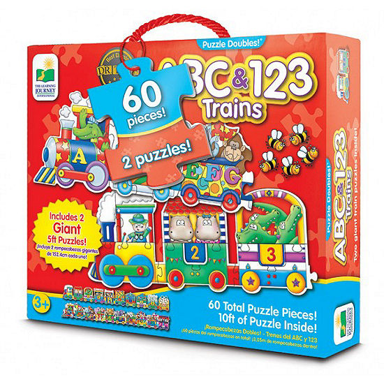 The Learning Journey Puzzle Doubles Giant Abc 123 Train Floor Puzzles