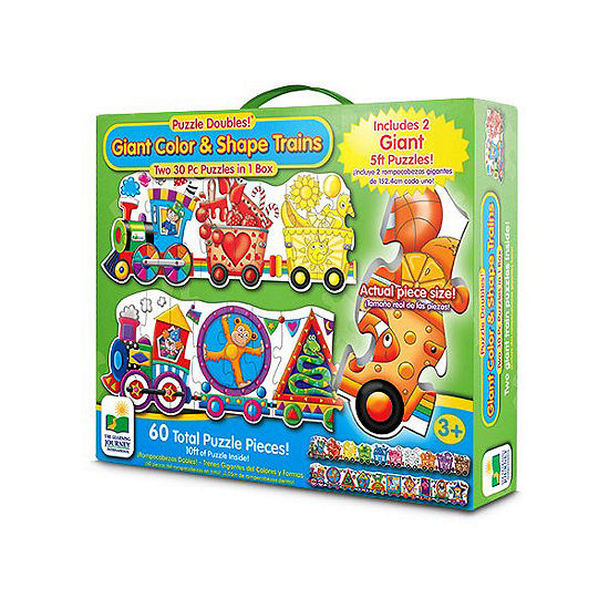The Learning Journey Puzzle Doubles - Giant Colors And Shapes Train Floor Puzzles