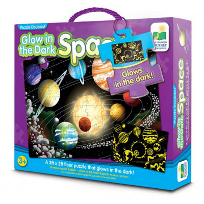 The Learning Journey Puzzle Doubles - Glow In TheDark - Space