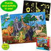 The Learning JourneyPuzzle Doubles- Glow In The Dark Wildlife
