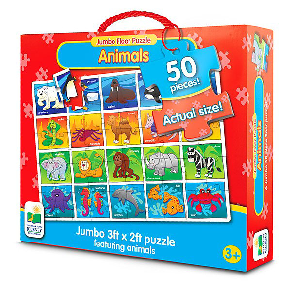 The Learning Journey Jumbo Floor Puzzles  - Animals