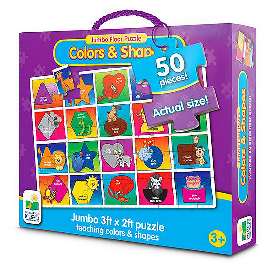 The Learning Journey Jumbo Floor Puzzles  - Colorsand Shapes