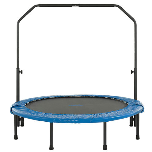 """Upper Bounce® 48"""" Mini Foldable Rebounder Fitness Trampoline with Adjustable Handrail"""