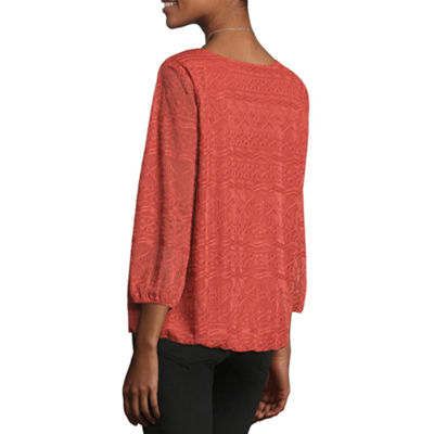 Alyx Bubble Crochet Knit Blouse