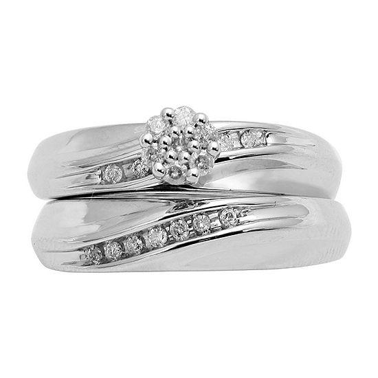1/5 ct. t.w. Diamond Bridal Set