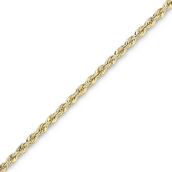 "10K Solid Gold 18-22"" 1.75mm Glitter Rope Chain"