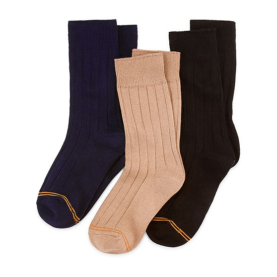 Gold Toe Little & Big Boys 3 Pair Crew Socks