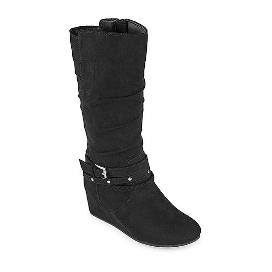 Arizona Girls Casey Wedge Heel Riding Boots
