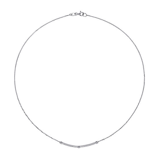 14K White Gold 17 Inch Cable Chain Necklace