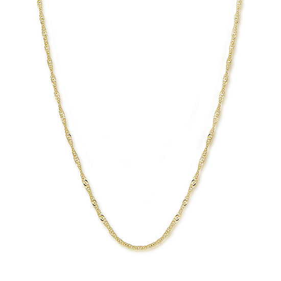 "Made in Italy 14K Gold 20"" Singapore Chain"