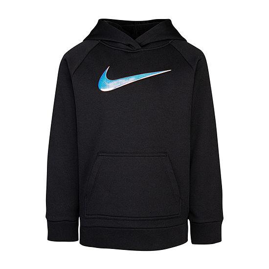 Nike Little Girls Fitted Sleeve Hoodie