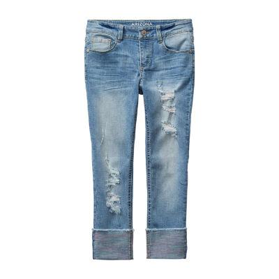 Arizona Little Kid / Big Kid Girls Skinny Fit Cropped Jean
