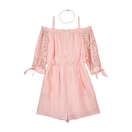 by&by girl Big Girls 3/4 Sleeve Romper