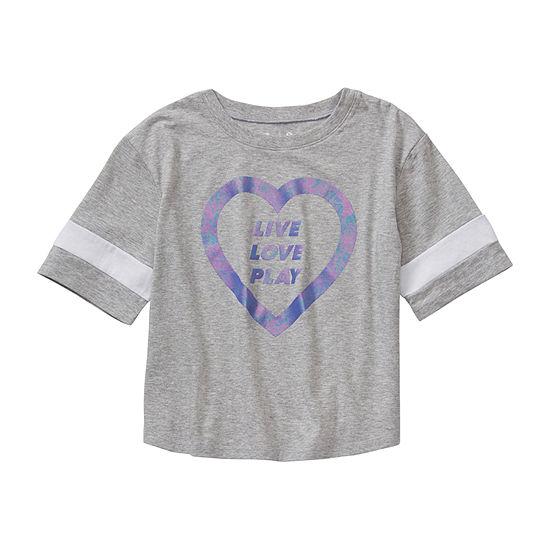 Xersion Girls Round Neck Short Sleeve T-Shirt Preschool / Big Kid