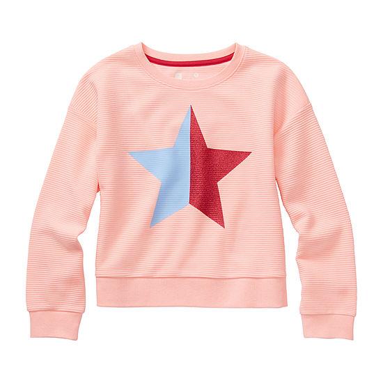 Xersion Girls Round Neck Long Sleeve Sweatshirt Preschool / Big Kid