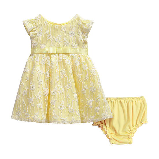 Youngland Baby Girls Short Sleeve Cap Sleeve A-Line Dress