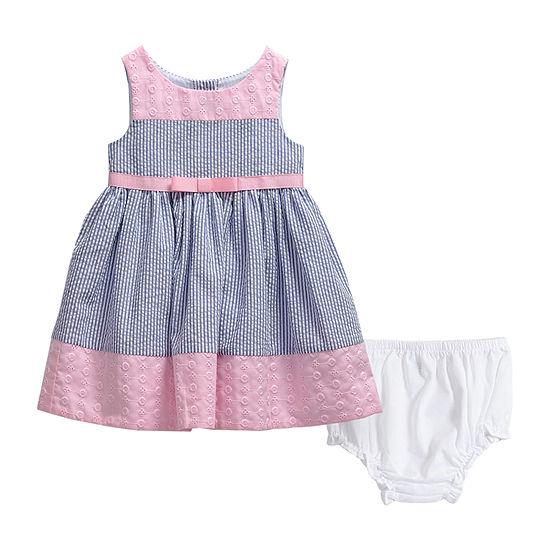 Youngland Baby Girls Sleeveless Striped A-Line Dress