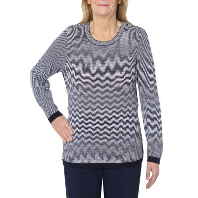Cathy Daniels Marina Del Rey-Womens Scoop Neck Long Sleeve T-Shirt