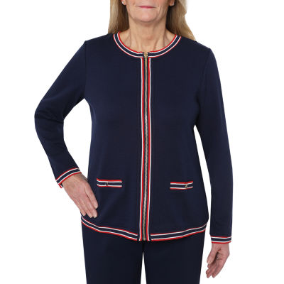 Cathy Daniels Marina Del Rey Knit Lightweight Cropped Jacket