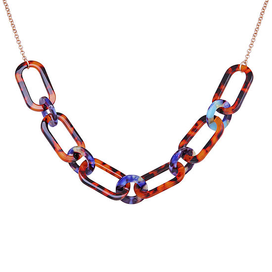Bijoux Bar Resin 18 Inch Link Link Necklace