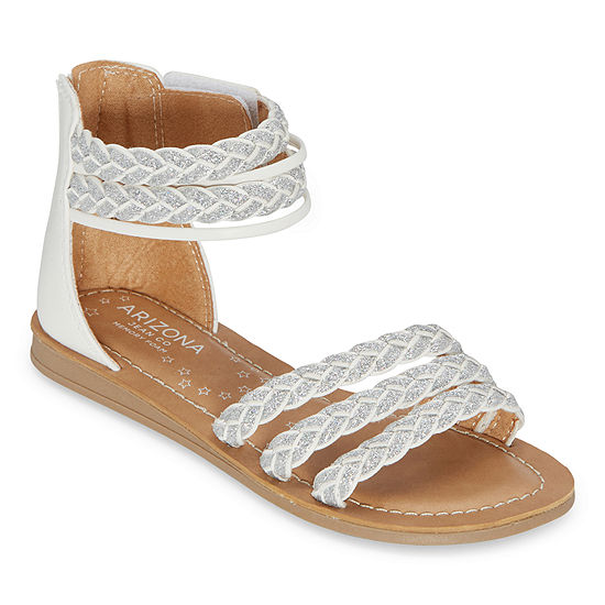 Arizona Little Kid/Big Kid Girls Gemma Ankle Strap Gladiator Sandals