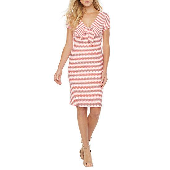 Bleecker 126 Short Sleeve Striped Sheath Dress