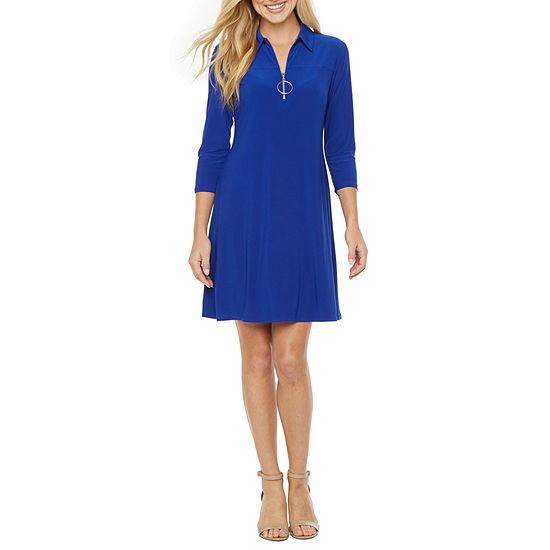 MSK 3/4 Sleeve Swing Dresses
