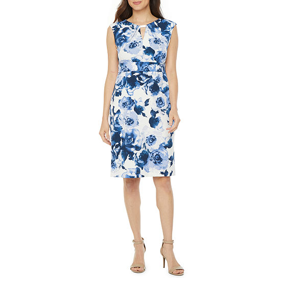 Danny & Nicole Sleeveless Embellished Floral Sheath Dress