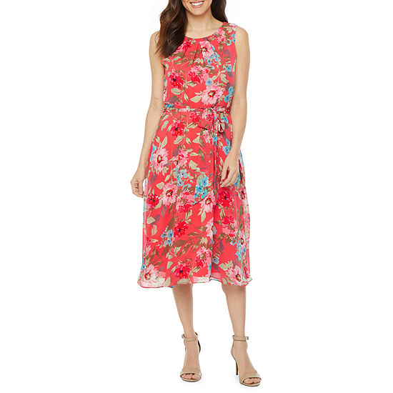 R & K Originals Sleeveless Floral Fit & Flare Dress
